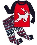 Boys Girls Christmas Pajamas Reindeer Cotton