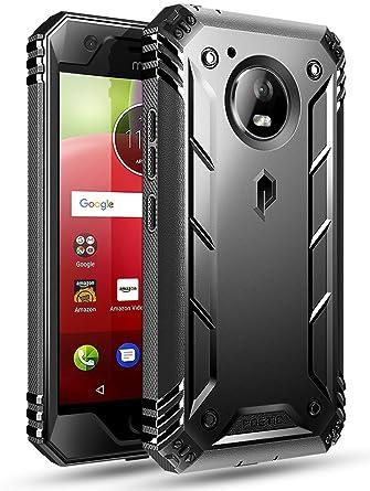 motorola e4 phone case. poetic revolution moto e4 rugged case with hybrid heavy duty protection and built-in screen motorola phone b