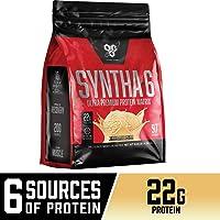 BSN SYNTHA-6乳清蛋白粉,胶束酪蛋白,牛奶蛋白质分离粉末,香草冰淇淋口味,97份(包装可能会有所不同)