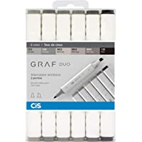 Marcador Graf Duo Cis, Multicor, Pacote de 6