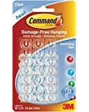 3M Command Decorating Clips, Clear, 80-Clip (17026CLRVP)