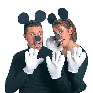 Minnie Mouse Style Fancy Dress Mouse Costume Set Black White Disney