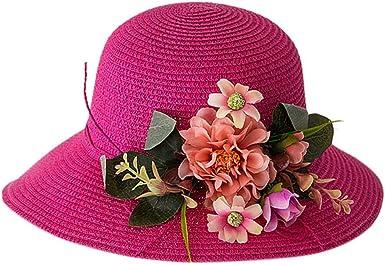Lovely kids girls baby summer flower breathable hat straw sun hat children hats