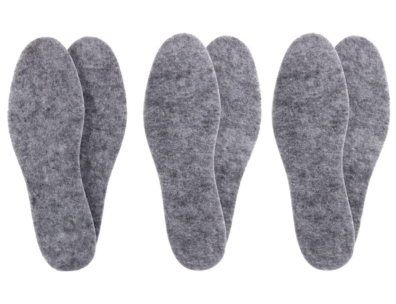 3 Paar Filzsohlen in Extra Dicker Ausführung - isolierend & Strapazierfähig z1014