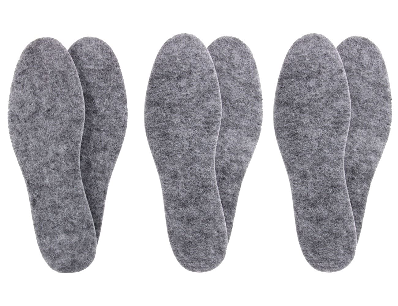 3 paires de semelles en feutre extra épaisses - isolantes et résistantes z1014