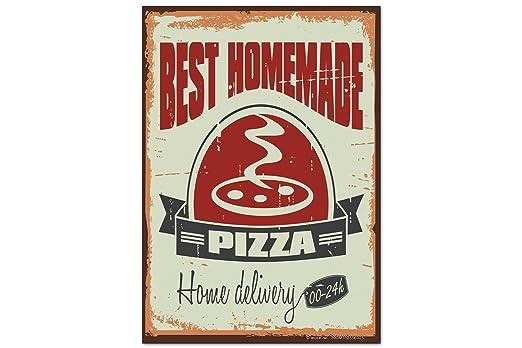 Iman Nevera Retro Pizza casera: Amazon.es: Hogar