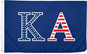 Kappa Alpha Order USA Letter Fraternity Flag Greek Banner Large 3 feet x 5 feet Sign Decor KA (Flag - USA)