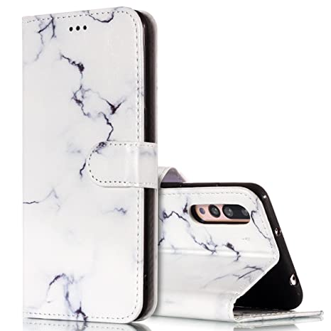 KunyFond Funda Compatible Huawei P20 Pro,Carcasa Marmol Soft ...