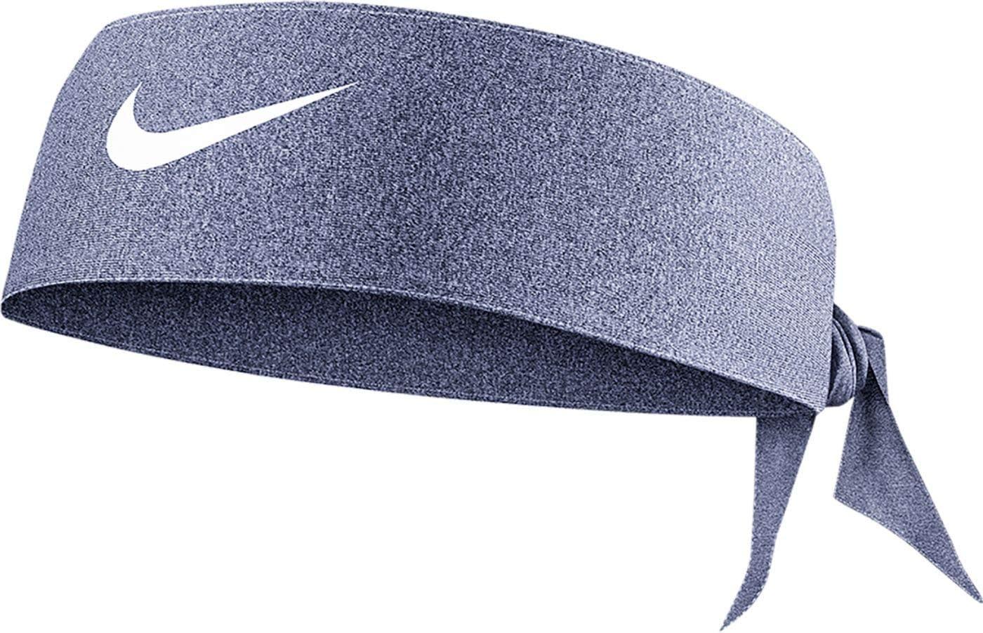 Obsidian Nike Womens Heatherized Dri-FIT 3.0 Head Tie