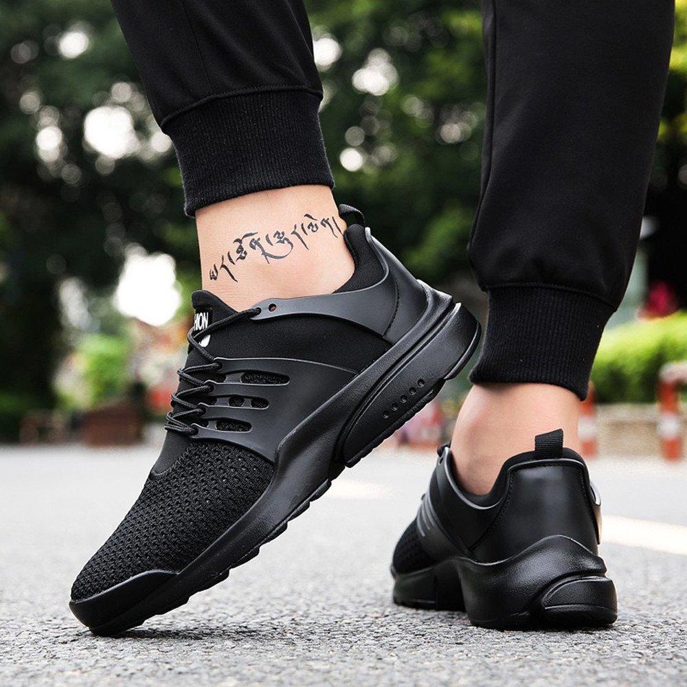 Nero,EU 40 JiaMeng Scarpe Donna da Ginnastica Running Sports Sneaker da Fitness Allacciare Maglia Nero Blu Grigio Bianco 35-44
