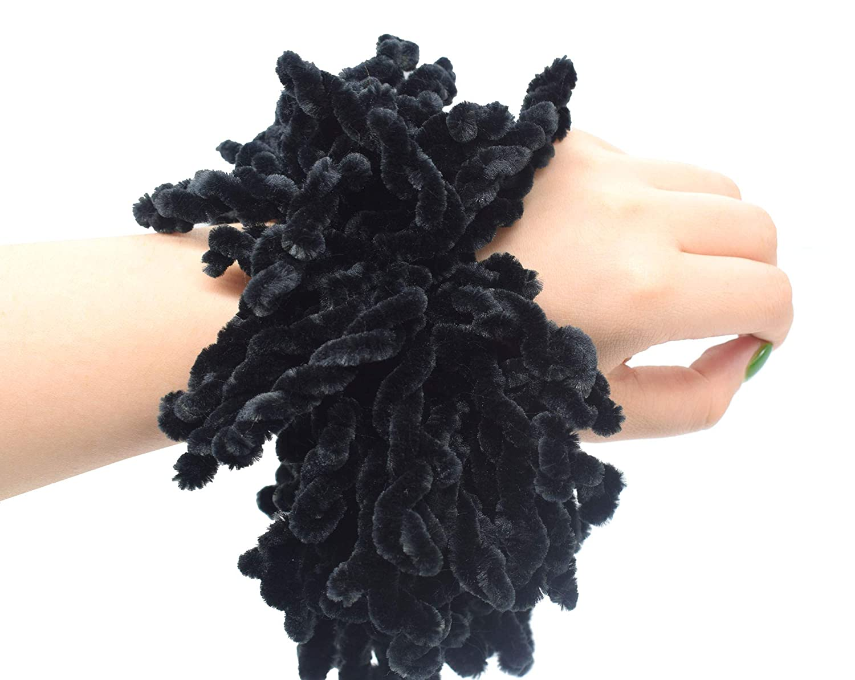Daisy Printed Scrunchies Women Hair Tie Headdress Fabric Hair Ring L7F2