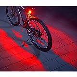 Fischer Cykling Bakljus, Twin Fahrrad-rücklicht, Svart