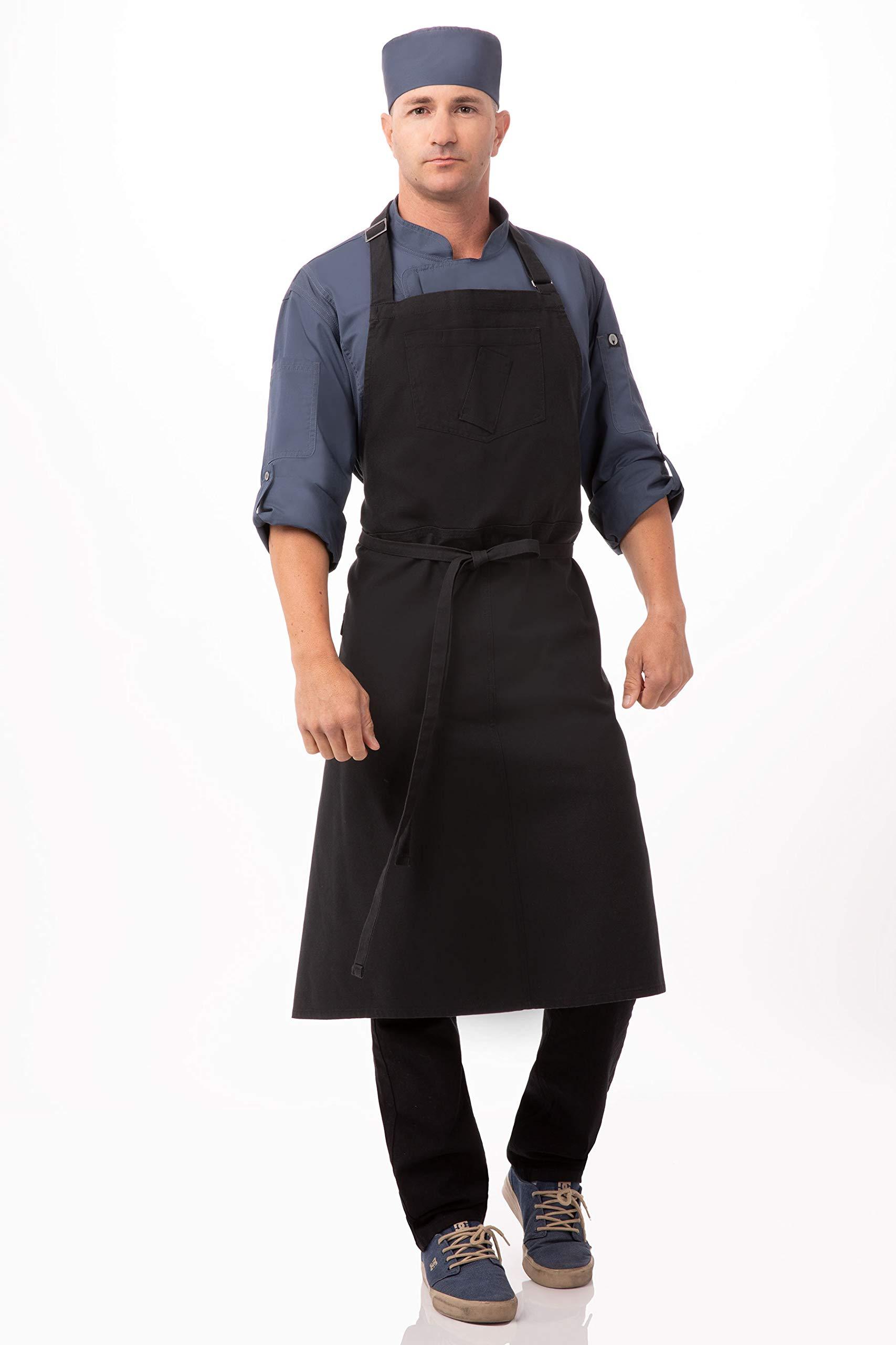 Chef Works Unisex Rockford Chefs Bib Apron, Steel Gray, 0 by Chef Works