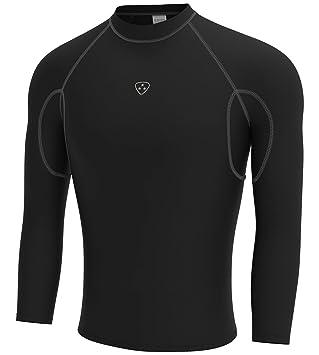 Deporteshera - Camiseta Térmica Manga Larga, Camiseta compresiva Fitness y Ejercicio
