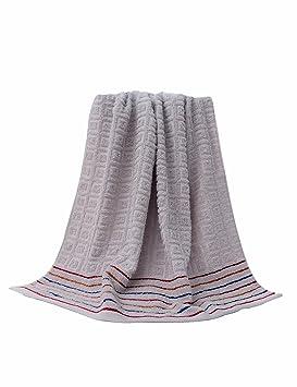 Toalla de algodón Simple Absorbente Toallas Grandes y Grandes Toalla de algodón Grande para Hombre y Mujer Adulto (7 Colores Opcionales) (Color : 4): ...