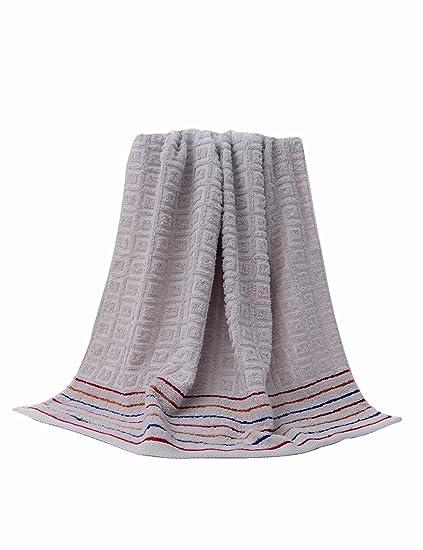 Toalla de algodón Simple Absorbente Toallas Grandes y Grandes Toalla de algodón Grande para Hombre y