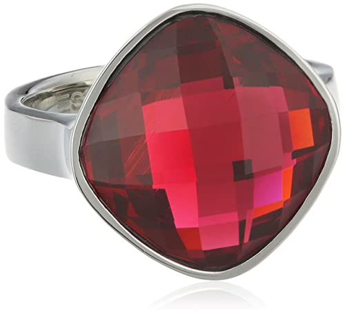 Esprit Damen-Ring Edelstahl rhodiniert Glas Glaskristall Impressive pink