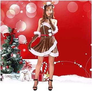 SDLRYF Père Noël Costume Costume De Noël Les Hommes Et Les Femmes Adultes Costume Père Noël Partie Femelle Adulte Uniforme Costume Noël