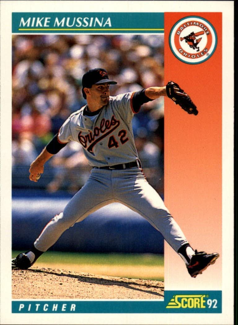 1992 - Authentic Collectible Baseball Trading Card Score - Pinnacle Mike Mussina #204