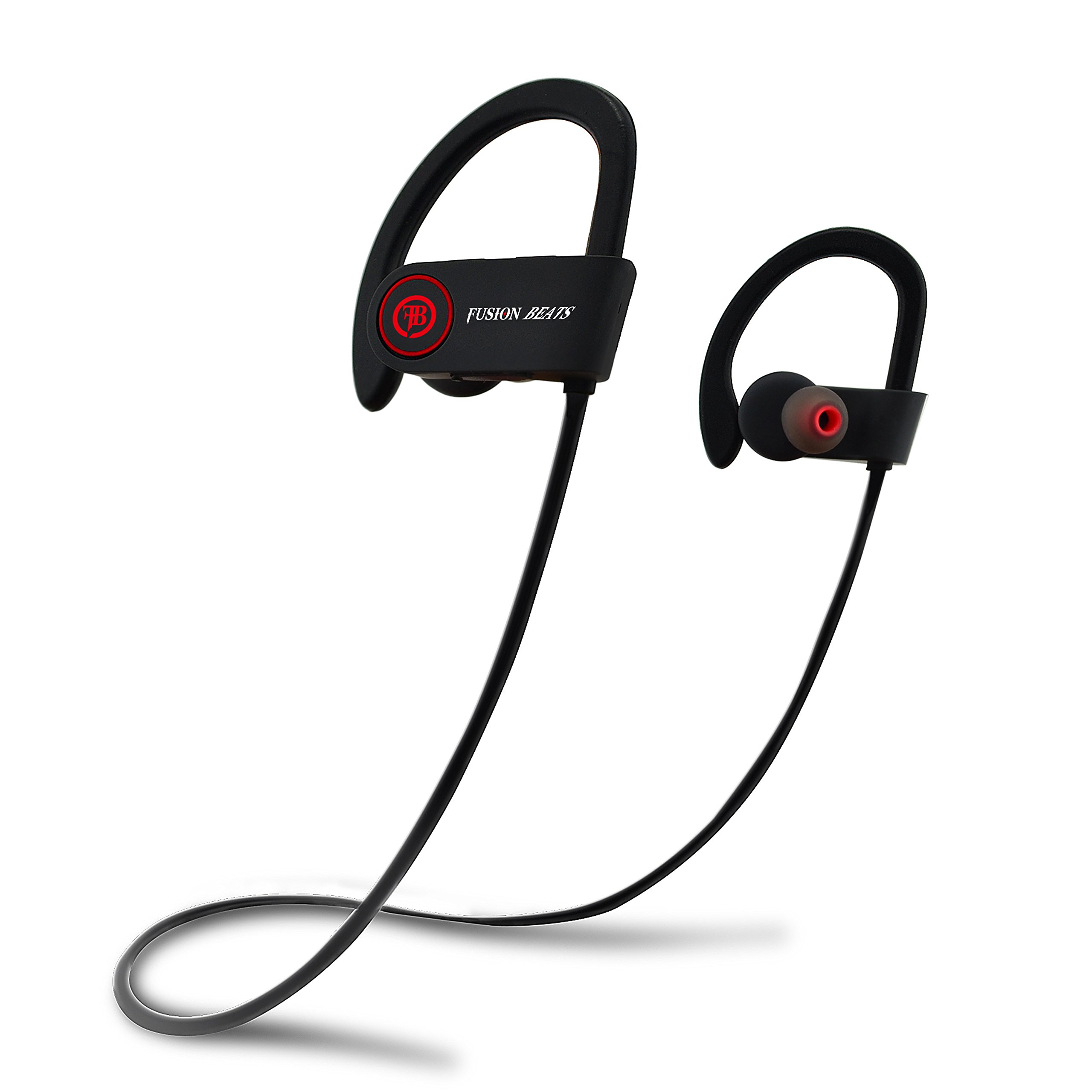 Fusion Beats Bluetooth Headphones / Best High Quality, Noise Cancelling Wireless Sports Earphones / Sweatproof Earbuds for Gym Running / Up to 8 Hours of Working Time / Built-in Mic Headsets