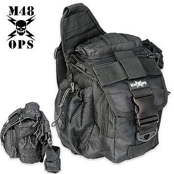 Amazon.com : M48 OPS Tactical Waist Sling Bag - Messenger - Black ...