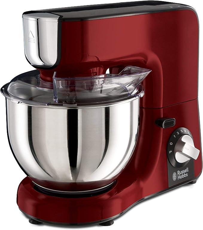 Russell Hobbs Desire - Robot de cocina (1000 W, Bol Inox de 5 l, Accesorios y Jarra para Batir, Rojo) - ref. 23480-56: Amazon.es: Hogar