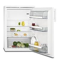 AEG RTB91431AW Kühlschrank / 133 l Kühlschrank mit Gefrierfach / Kühl-Gefrierkombination (A+++) / 115 l Kühlraum / 18 l Gefrierfach / freistehender Kühlschrank mit Glasablagen / H: 85 cm / weiß
