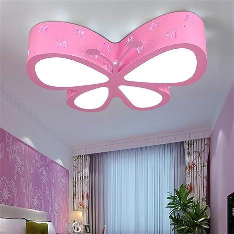 Leihongthebox Ceiling Lights Lamp Children Butterfly Ceiling LED  Girls/PRINCESS Kids Room Ceiling Lamp For