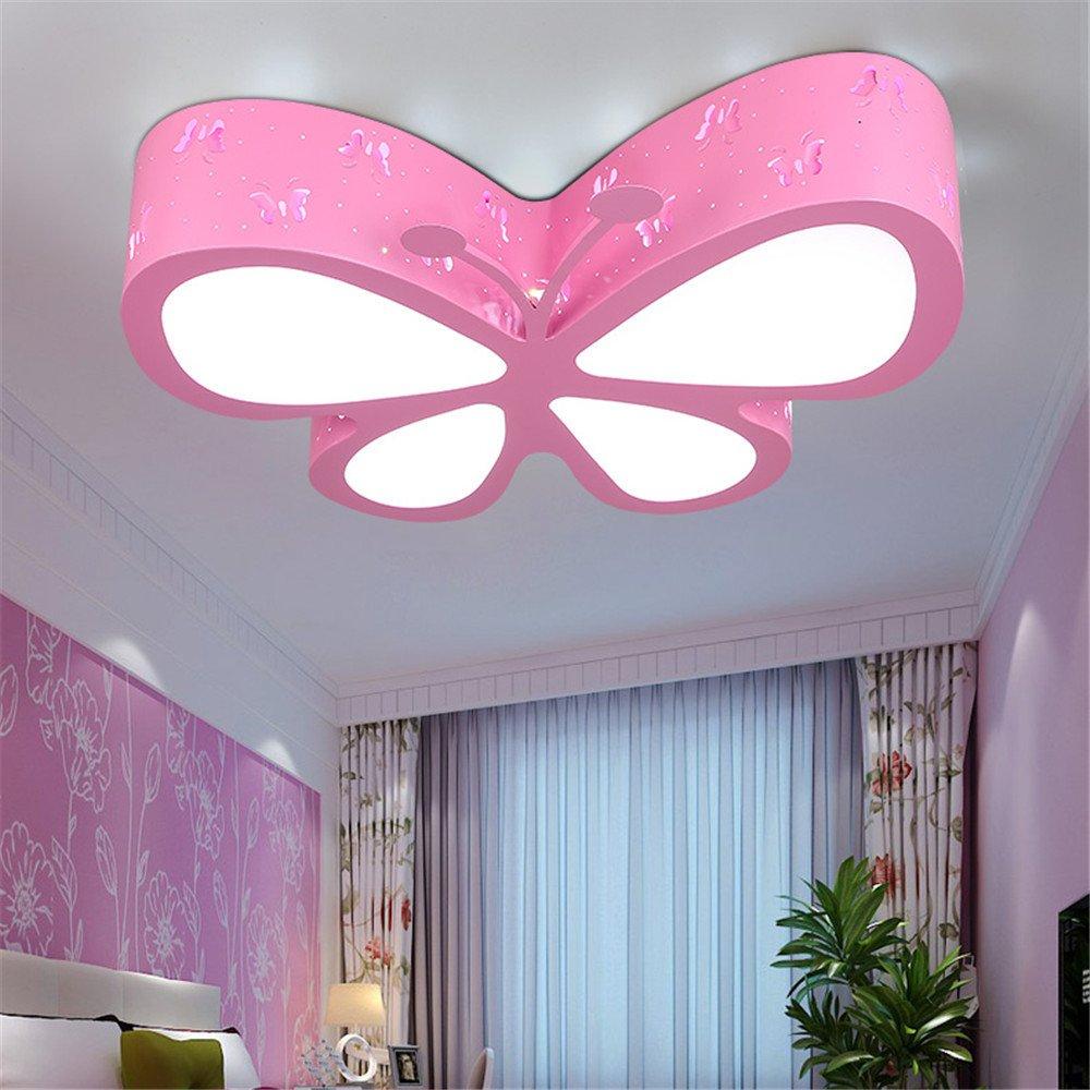 Leihongthebox Ceiling Lights lamp Children butterfly ceiling LED girls/PRINCESS kids room Ceiling lamp for Hall, Study Room, Office, Bedroom, Living Room,500mm