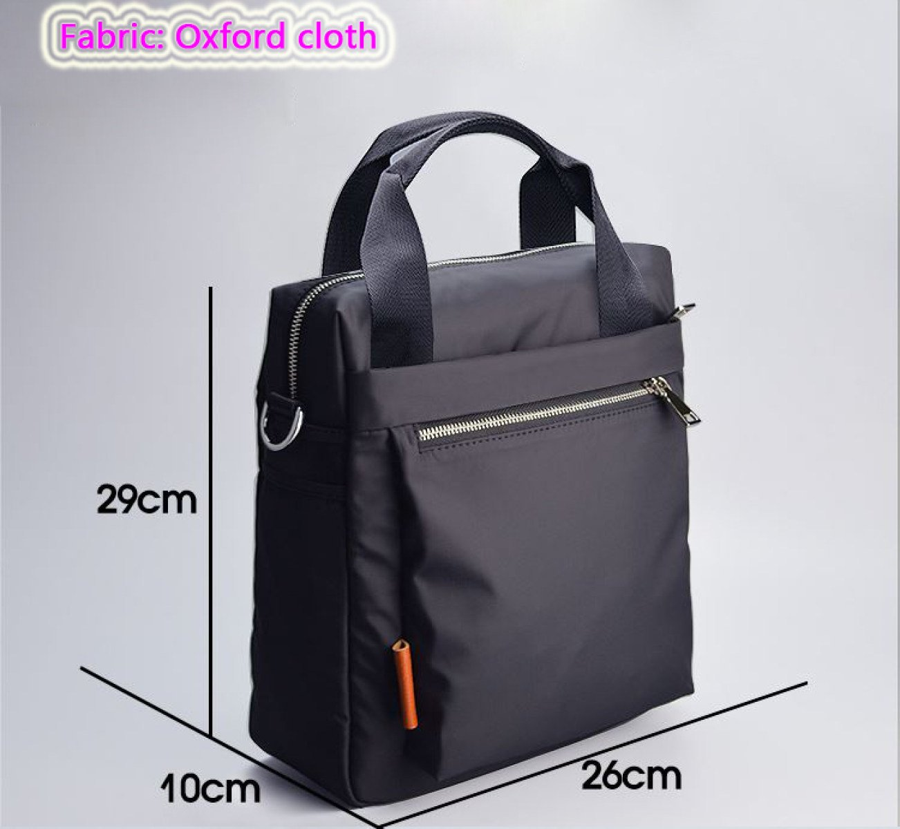 SJLN Men 8 Inch Waterproof Notebook Computer Bag Portable Shoulder Diagonal Package Briefcase Oxford Spinning Simple Retro Business English Bag,Black-OneSize by SJLN (Image #4)