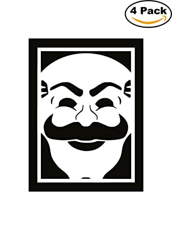 Mr robot logo fsociety mask decal logo vinyl sticker 4 stickers