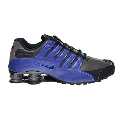 43cd563bdc64 Nike Shox NZ Men s Shoes Black Racer Blue Dark Grey 378341-041 (