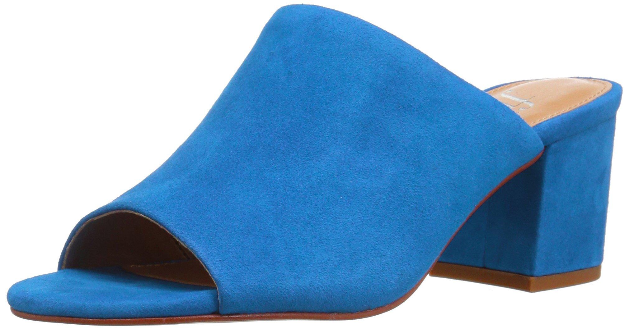 The Fix Women's Belle Block Heel Mule, Bright Blue, 7.5 B US
