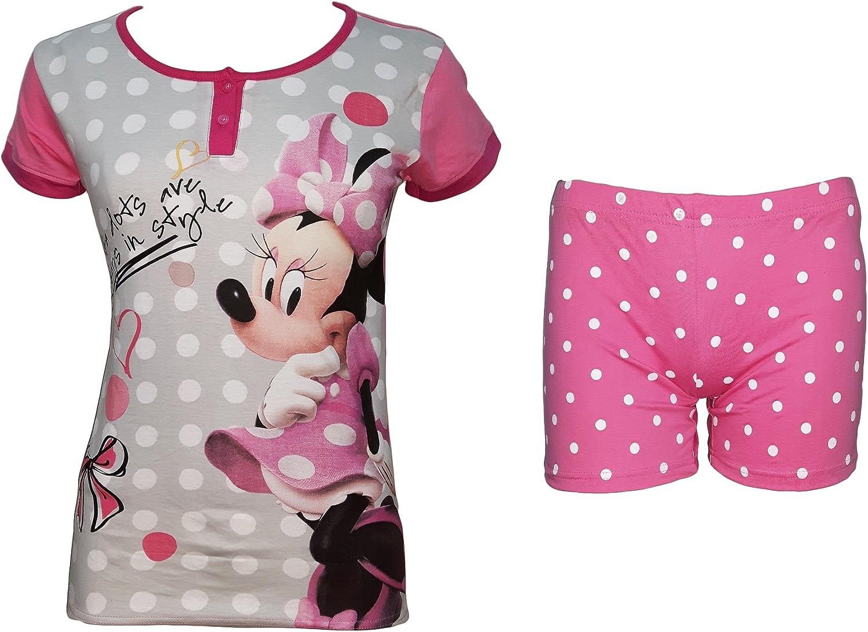 Disney Pigiama Donna Corto Mezza Manica Puro Cotone Minnie topolina Art 46285