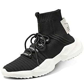 Littleplum Men's Women's Walking Shoes Running Socks Platform Fashion Mesh Sneakers Air Cushion Athletic Gym Casual Loafers Dance Hip-hop Shoes
