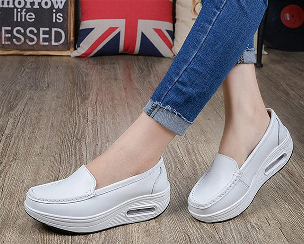 edv0d2v266 Womens Comfortable Platform Walking Sneakers Lightweight Casual Tennis Air Fitness Shoes