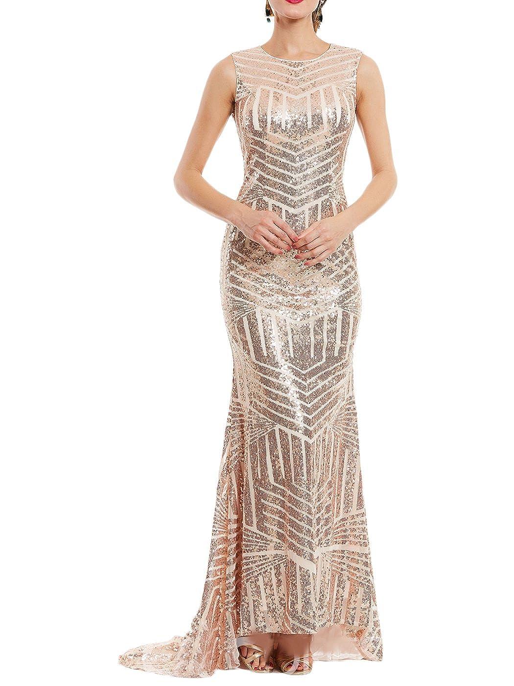 Mermaid Sequined Dresses Formal 2018 Women's Monalia