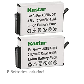 Amazon com : Kastar Battery 2 Pack for GoPro ASBBA-001 Battery and