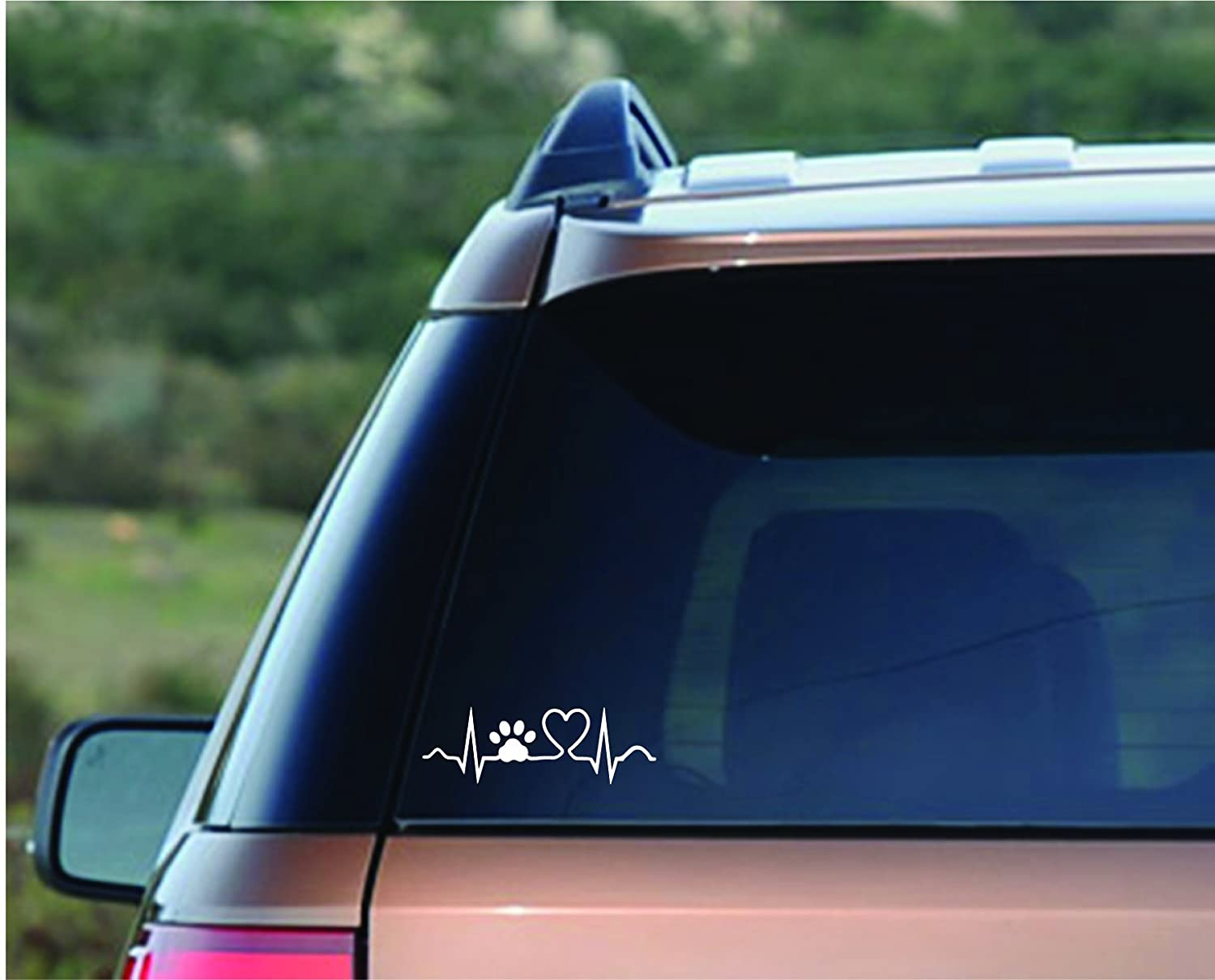 3 designs Peace Heart Paw, Heart Beat Paw, Infinity Symbol Pet Paw 12 decals total Enjoy It Pets Car Sticker Kit