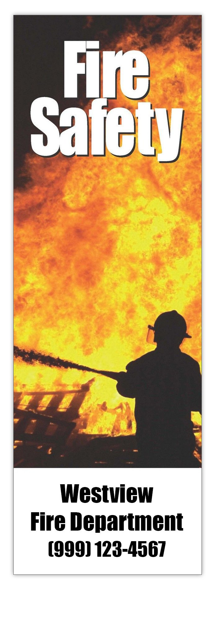 Fire Safety Bookmarks in Bulk (Qty of 250) - Promotional Item - Customize with your Information - Great for Mailings