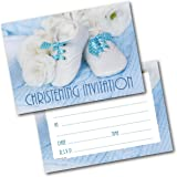 Creative Christening Invitations Pack Of 20 Sheets Boy Amazon