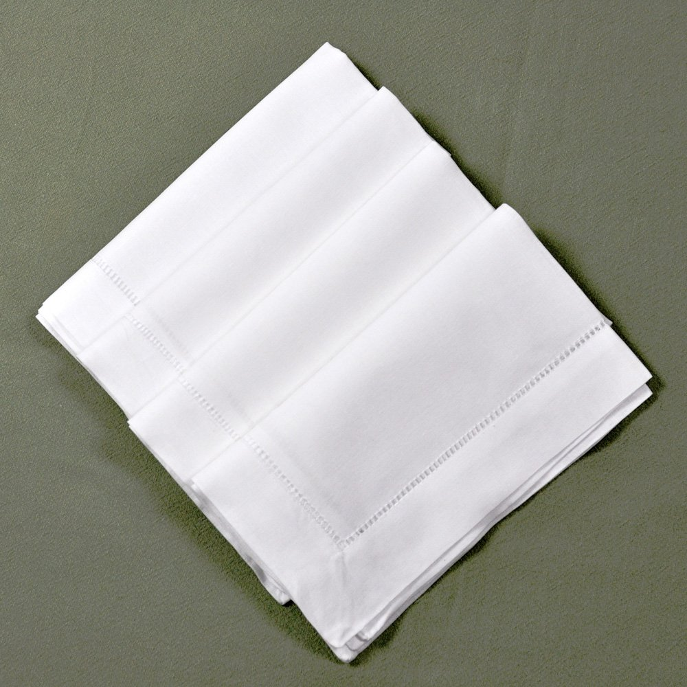 Amazon white linen hemstitched dinner napkins set of 4 20 x amazon white linen hemstitched dinner napkins set of 4 20 x 20 ladder hem stitch cloth napkin home kitchen junglespirit Images