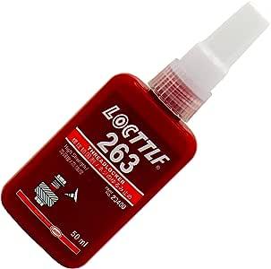 Threadlocker Red 263 Locttlf Original – Oil Tolerant High-Strength Removable 50ml Bottle
