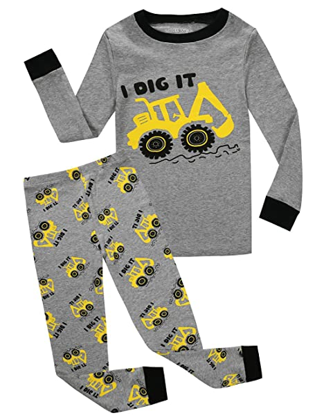 7d598a000810 Amazon.com  Little and Big Boys Truck Pajamas 100% Cotton Childrens ...