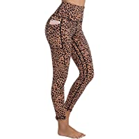AY Womens High Waist Yoga Pants with Pockets, Tummy Control, 4 Way Stretch Workout Running Leggings Pants.