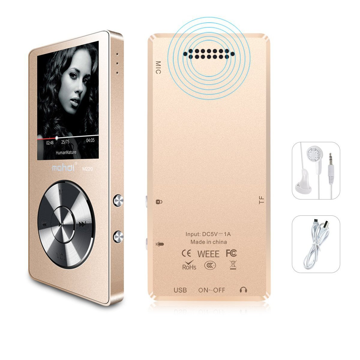 Hifi Players The Cheapest Price Original Metal Bluetooth Mp3 Player Lossless Hifi Mp3 Music Player With High Quality Sound Out Speaker E-book Fm Radio Clock