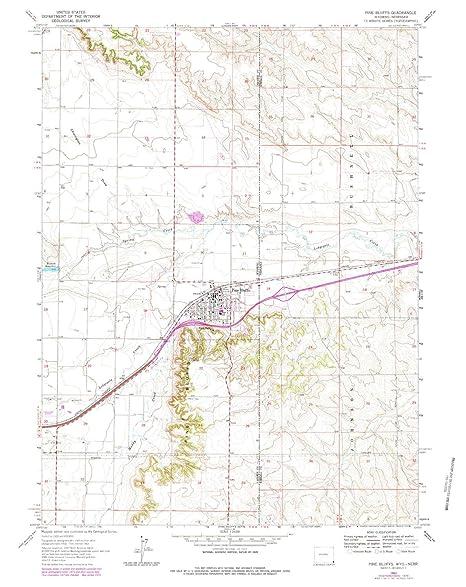 Pine Bluffs Wy >> Amazon Com Yellowmaps Pine Bluffs Wy Topo Map 1 24000