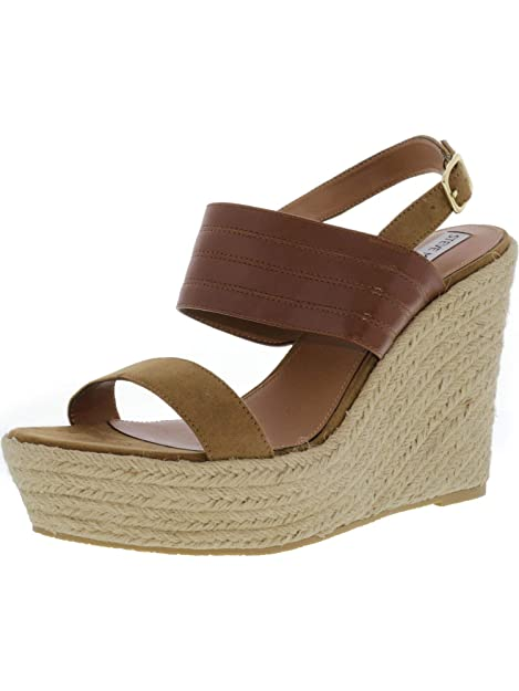 a39ea38c81a48 Amazon.com | Steve Madden Womens Prima Open Toe Wedge Sandals | Shoes