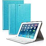 CoastaCloud iPad mini 1/2/3 Keyboard Case PU Leather Folio Stand Cover with Detachable Wireless Bluetooth Keyboard for iPad mini 3/ iPad mini 2/iPad mini 1(Sky Blue)