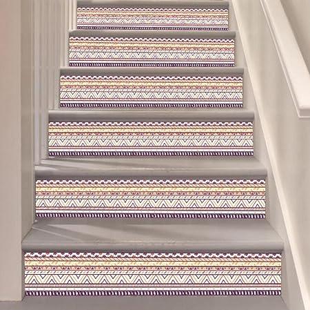 Etiqueta engomada de la escalera DIY 3D PVC rayas pegatinas Decorativas pegatinas de pared para el hogar Escalera impermeable Especificaciones (2pc) , 18*116cm*6pcs: Amazon.es: Hogar
